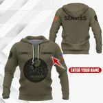 Customize US Navy Seabees Symbol All Over Print Hoodies