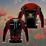 Customize British Army Symbol Flag Poppy - Red All Over Print Hoodies