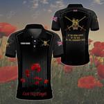 Customize British Army Symbol Flag Poppy All Over Print Polo Shirt