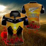 Customize New Zealand Army Veteran Poppy All Over Print Polo Shirt