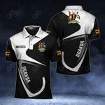 Customize Uganda Coat Of Arms & Flag All Over Print Polo Shirt