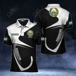 Customize Uzbekistan Coat Of Arms & Flag All Over Print Polo Shirt