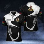 Customize Vanuatu Coat Of Arms & Flag All Over Print Polo Shirt