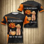 Poodle Halloween All Over Print T-shirt