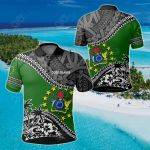 Cook Islands Fall In The Wave All Over Print Polo Shirt