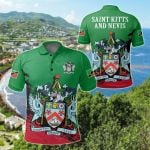 Saint Kitts and Nevis Special All Over Print Polo Shirt