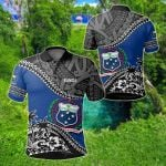 Samoa Fall In The Wave All Over Print Polo Shirt