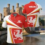 Welsh Dragon Sporty All Over Print Polo Shirt