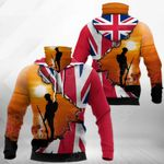 United Kingdom Anzac Day All Over Print Neck Gaiter Hoodie