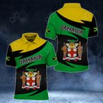 Jamaica Coat Of Arms New Style V2 All Over Print Polo Shirt