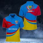 DR Congo Proud Version All Over Print Polo Shirt