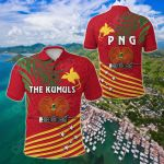 Papua New Guinea Rugby Coconut Leaves - The Kumuls All Over Print Polo Shirt