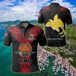 Papua New Guinea Rugby Tests Black All Over Print Polo Shirt