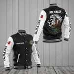 Customize Mexico Coat Of Arms - Eagle All Over Print Varsity Jacket