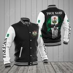 Customize Nigeria Coat Of Arms Skull Flag All Over Print Varsity Jacket