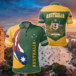 Australia Ball Style All Over Print Polo Shirt