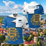 Estonia Home All Over Print Polo Shirt