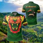 Ethiopia Flag Lion King All Over Print Polo Shirt