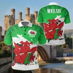 Wales Art Painting Style All Over Print Polo Shirt