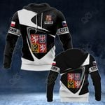 Customize Czech Republic Coat Of Arms - Flag V2 All Over Print Hoodies