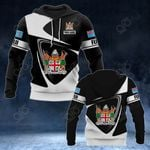 Customize Fiji Coat Of Arms - Flag V2 All Over Print Hoodies