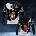 Customize Hungary Coat Of Arms - Flag V2 All Over Print Hoodies