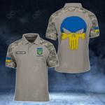 Customize Ukraine Skull - Camo Style All Over Print Polo Shirt
