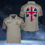 Customize United Kingdom Skull - Camo Style All Over Print Polo Shirt