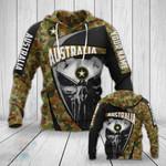 Customize Australia Skull All Over Print Hoodies