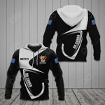Customize DR Congo Coat Of Arms & Flag All Over Print Hoodies