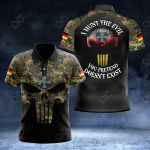 German Army Camo All Over Print Polo Shirt