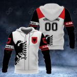 Customize Albania Coat Of Arms - Sport All Over Print Hoodies