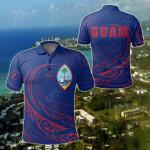 Guam Frida Style All Over Print Polo Shirt