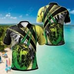 Jamaica Lion With Flag Colors All Over Print Polo Shirt