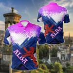 Scotland Lion Flag Blue All Over Print Polo Shirt