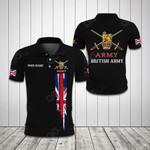 Customize British Army Flag All Over Print Polo Shirt