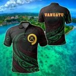 Vanuatu Frida Style All Over Print Polo Shirt
