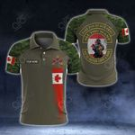 (Custom) Canadian Army Veteran Soldier Camo All Over Print Polo Shirt