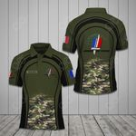 Customize French Army Symbol Camo All Over Print Polo Shirt