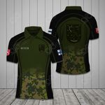 Customize Finnish Army Symbol Camo All Over Print Polo Shirt