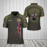 Customize United Kingdom Coat Of Arms - Army Camo All Over Print Polo Shirt