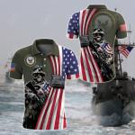 US Navy - Flag All Over Print Polo Shirt