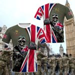 British Army - Flag All Over Print T-shirt