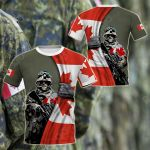 Canada Army - Flag All Over Print T-shirt