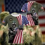 US Army - Flag All Over Print T-shirt