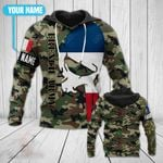 Customize France Army Skull All Over Print Hoodies