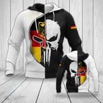 German Skull All Over Print Hoodies