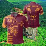 Sri Lanka King Of Lion Red All Over Print Polo Shirt