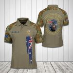 Customize Australian Army Symbol Soldier Camo All Over Print Polo Shirt