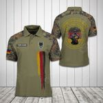 Customize German Army Symbol Soldier Camo All Over Print Polo Shirt